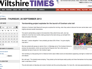Yarnbombing explodes for the launch of Corsham Arts Trail