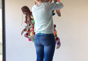 Crochet Rose exhibition at Milsom Place Bath
