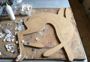 Sleeping hare mosaic