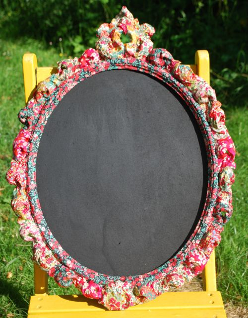 Fabric Frame chalk board