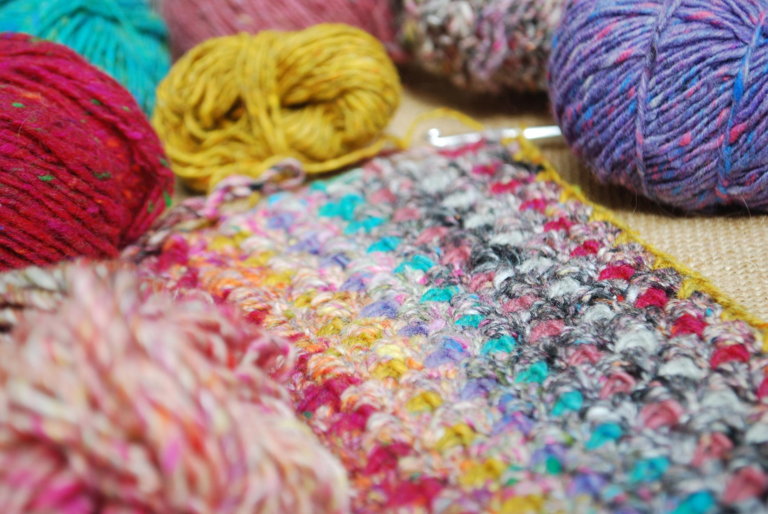 Moss stitch crochet tutorial