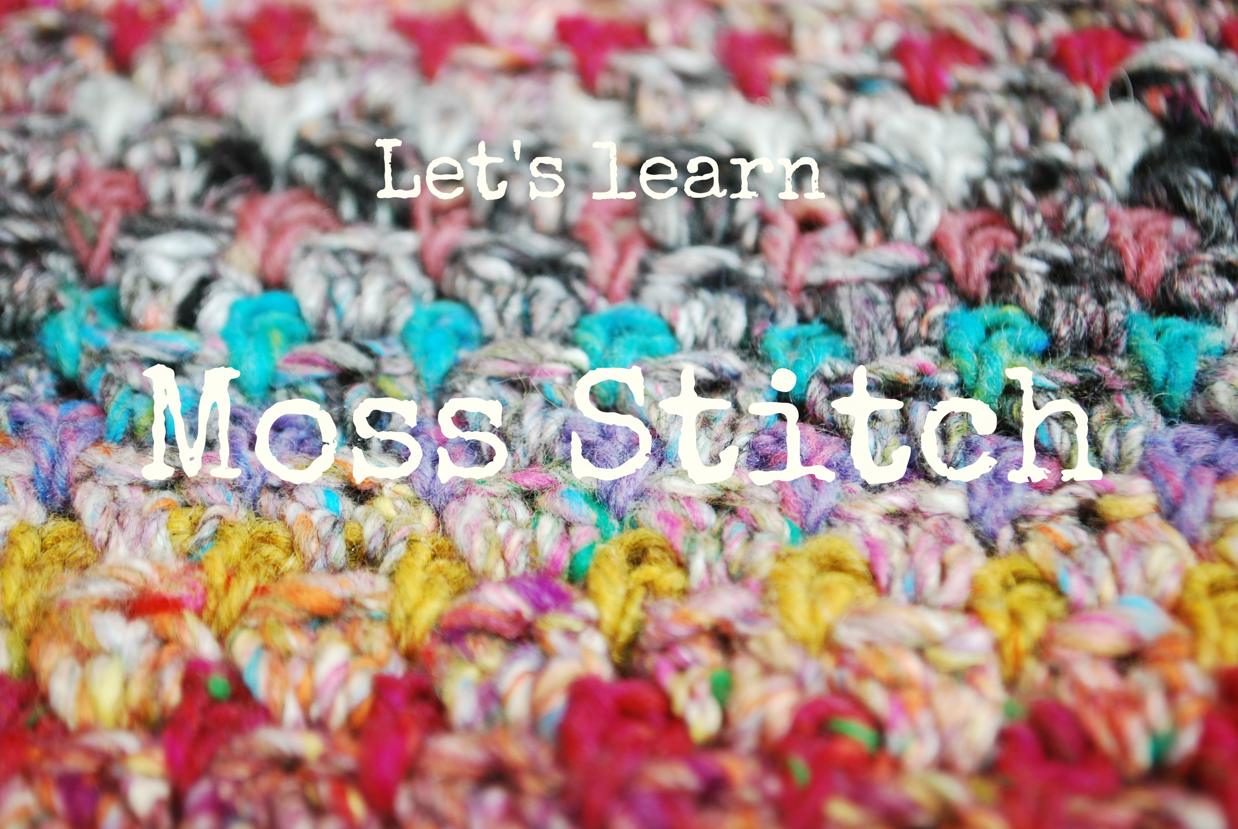 Let's learn Moss Stitch