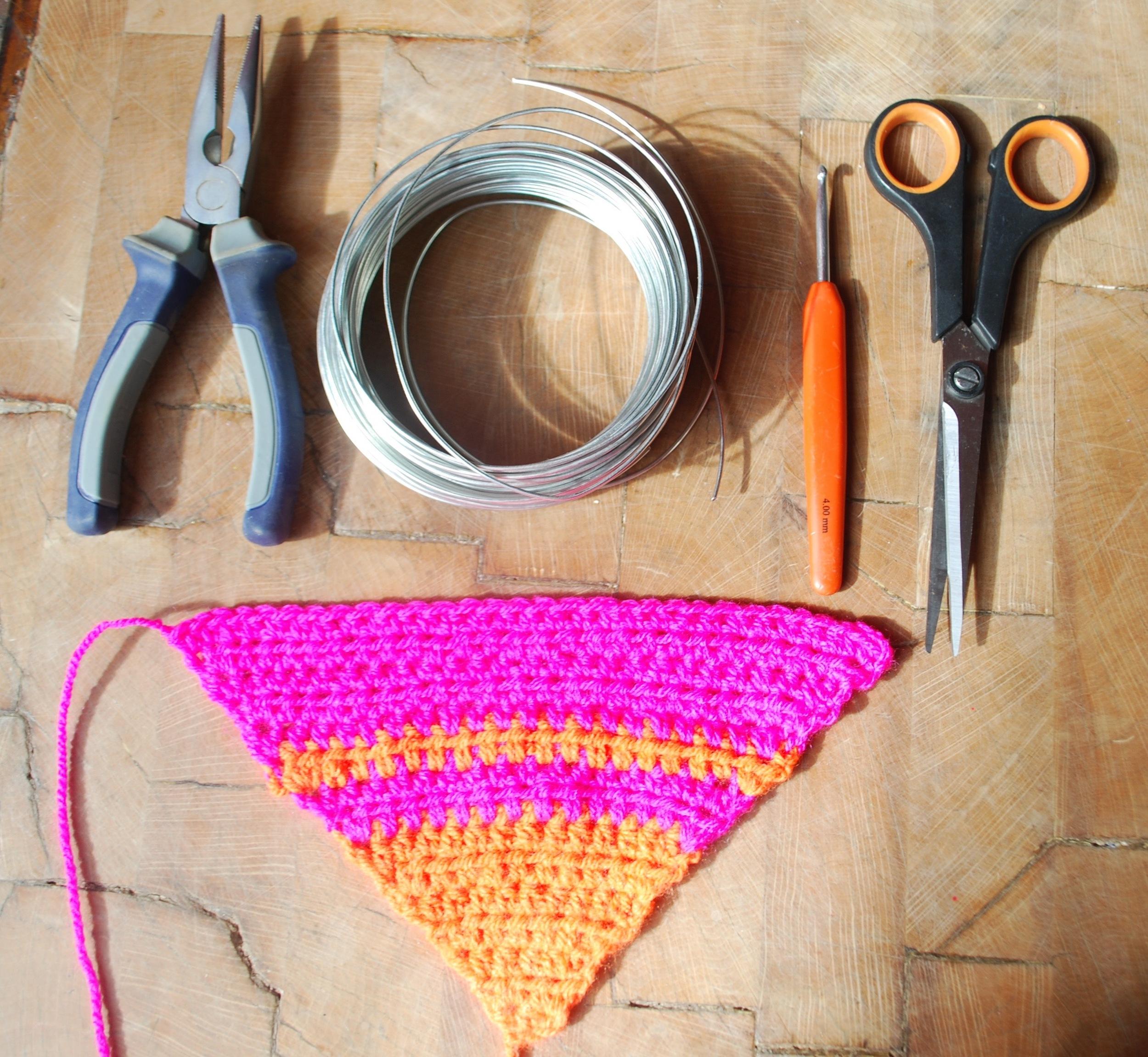 Sculptural crochet flower tutorial tools needed
