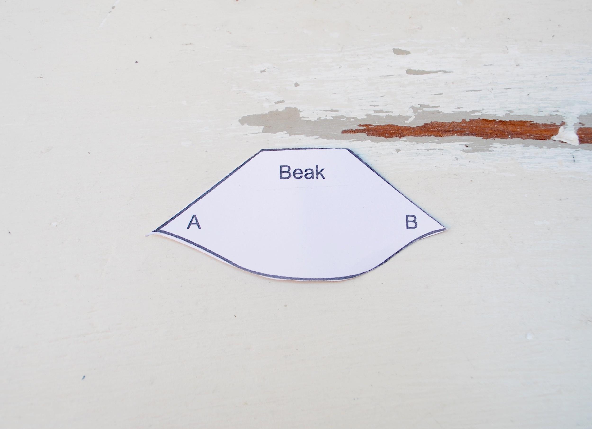 Penguin Paper Pet tutorial - making the beak