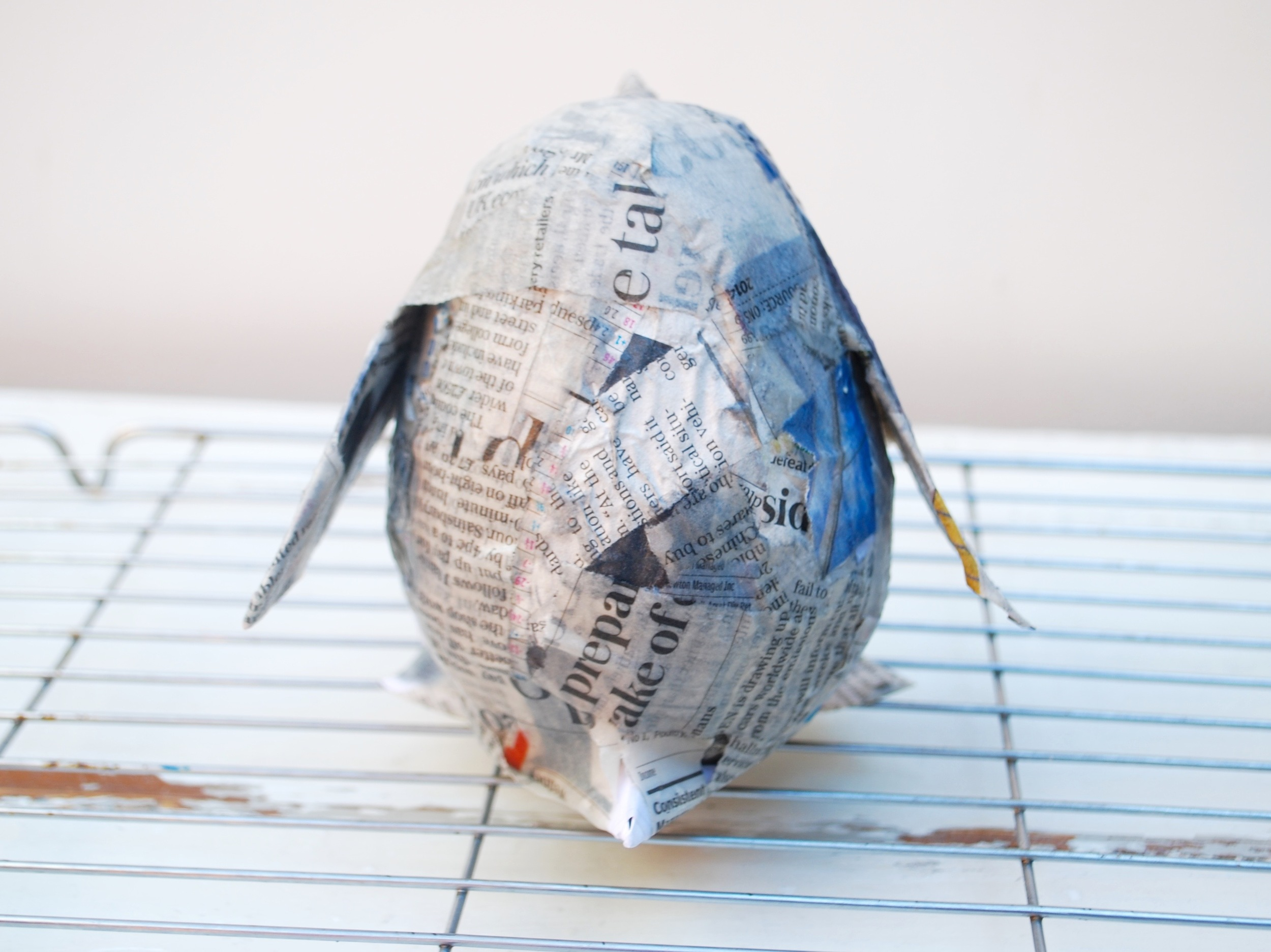 Penguin Paper Pet Tutorial - completely covered in new paper