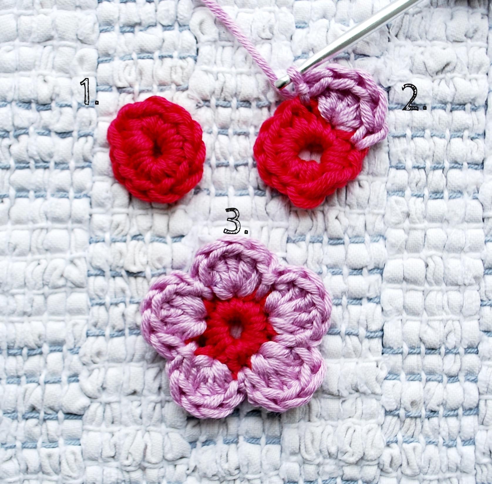 5 petal crochet daisy