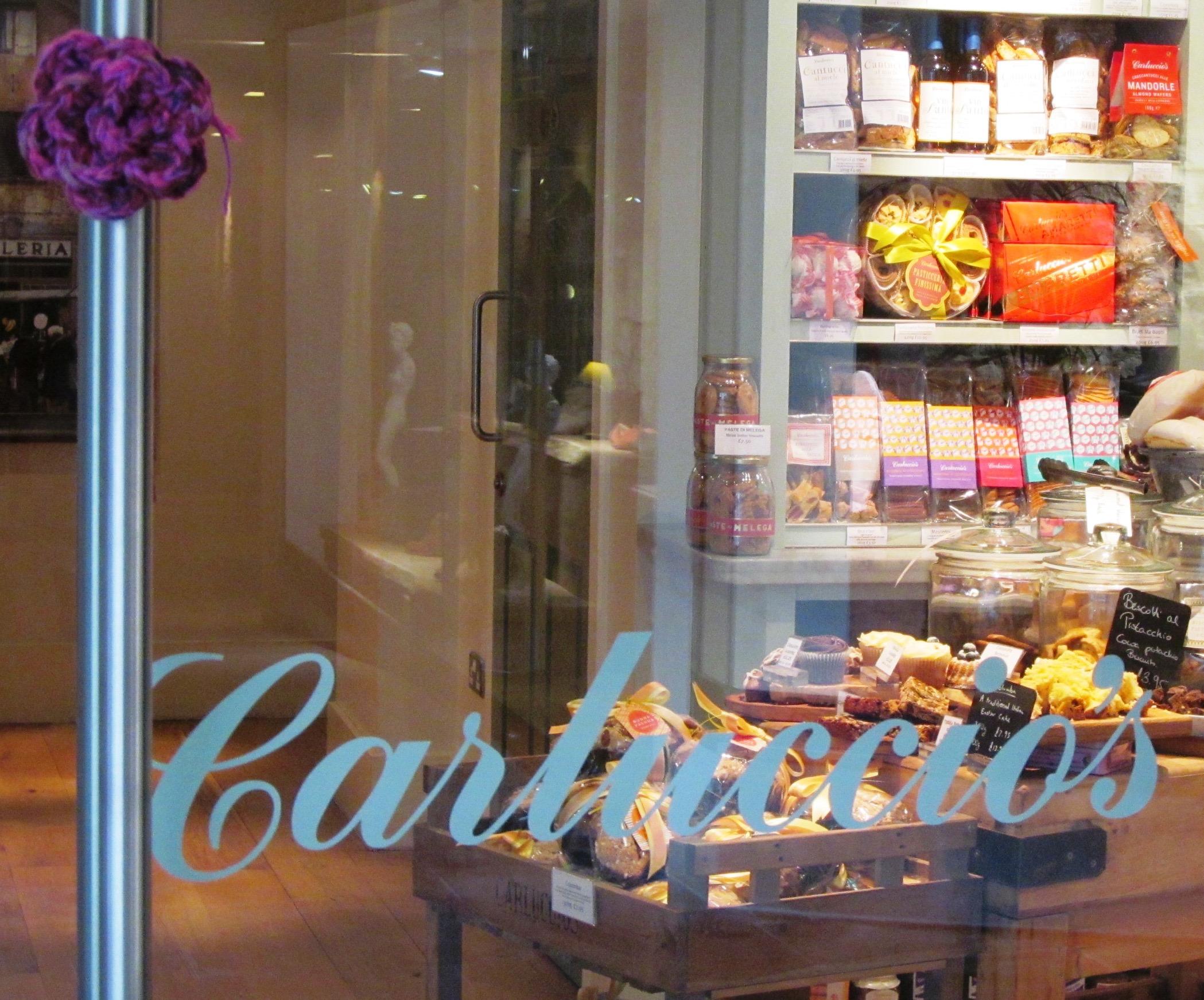 Crochet rose on Carluccio's door