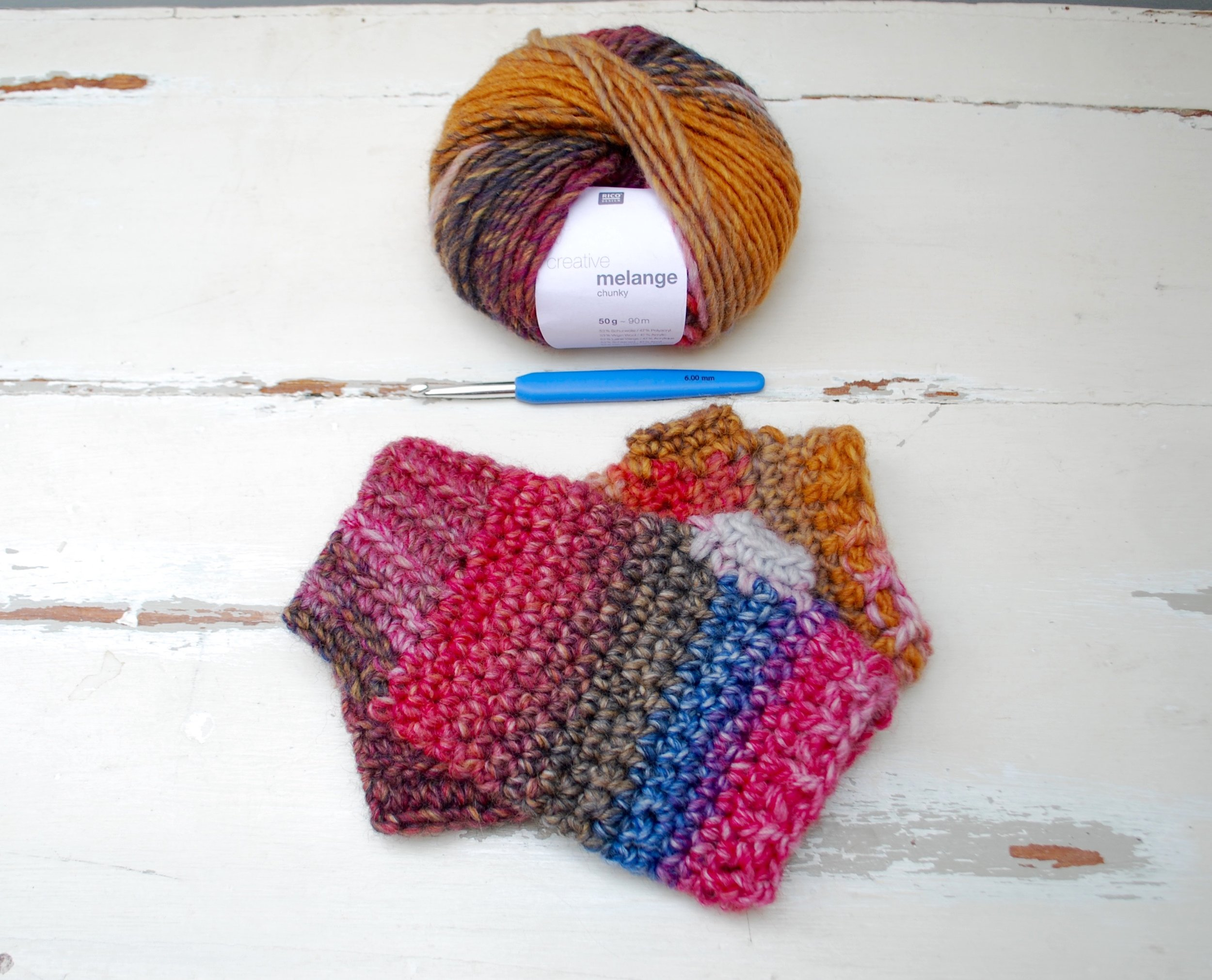 Easy Crochet Fingerless Mitten Gloves free pattern tutorial.  You will need....