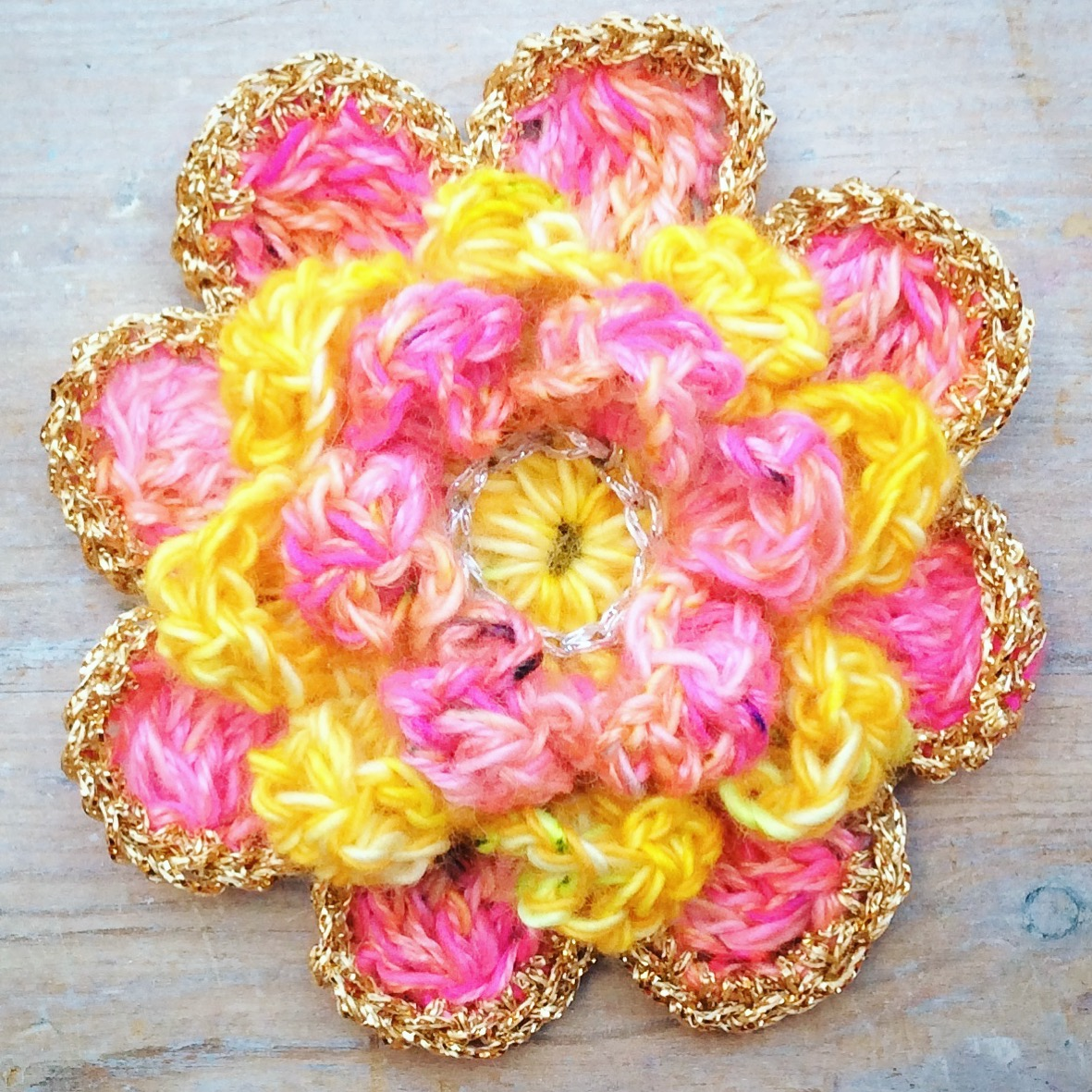 Go wild with the colours when you make your  Large Peony crochet flower !