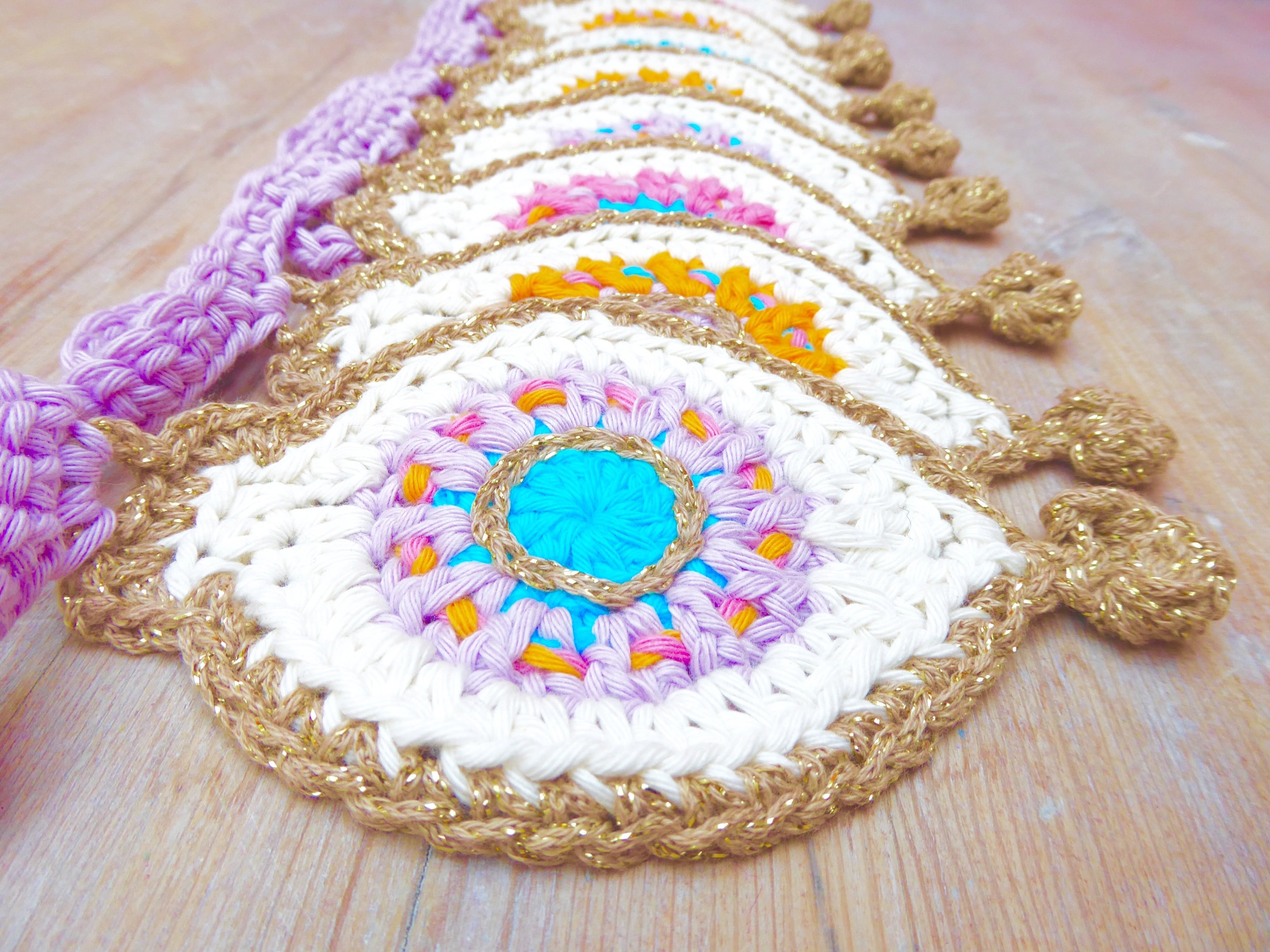 Crochet Bauble Bunting pompom bobble
