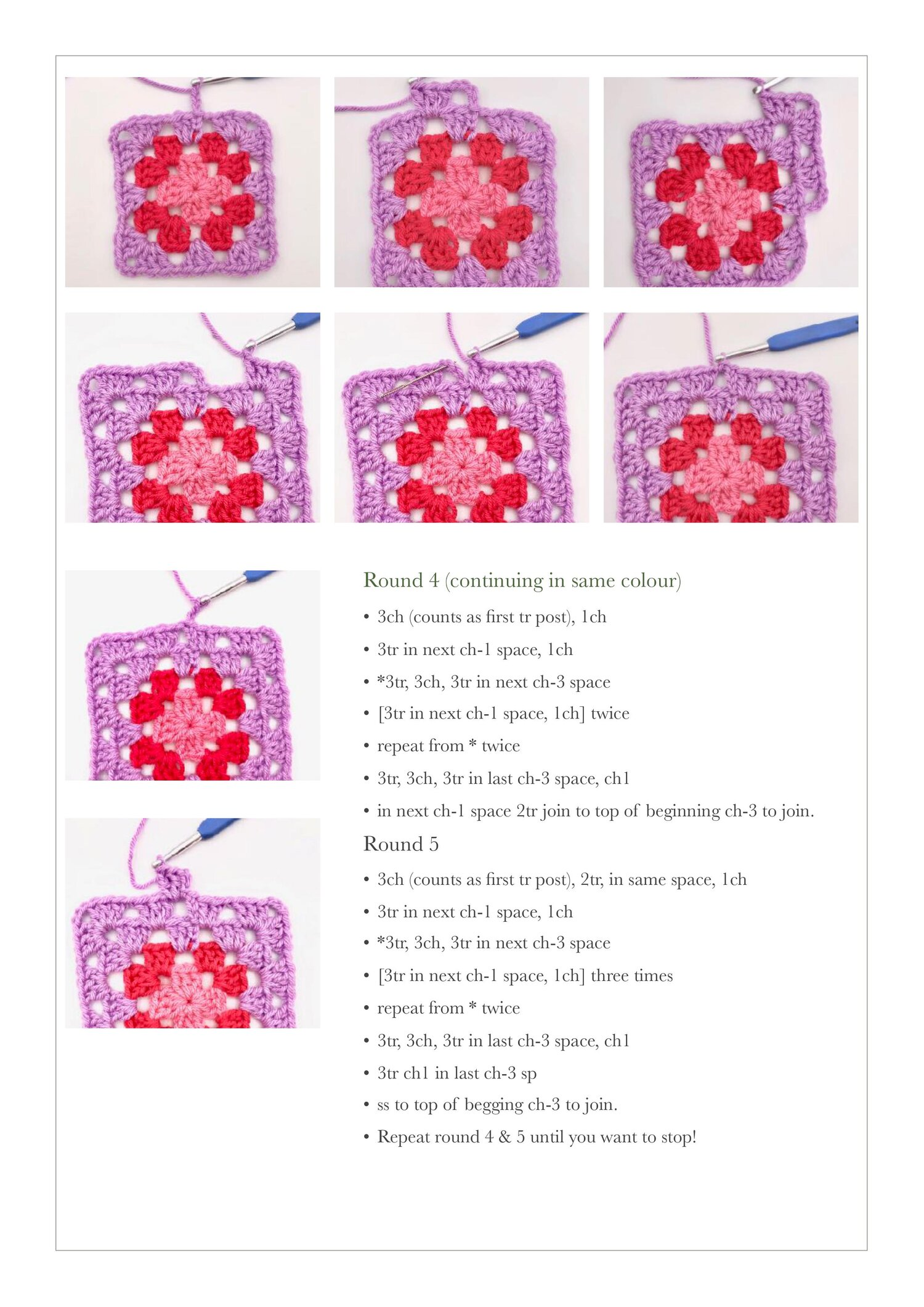 Free Crochet Granny Square Tutorial .jpg