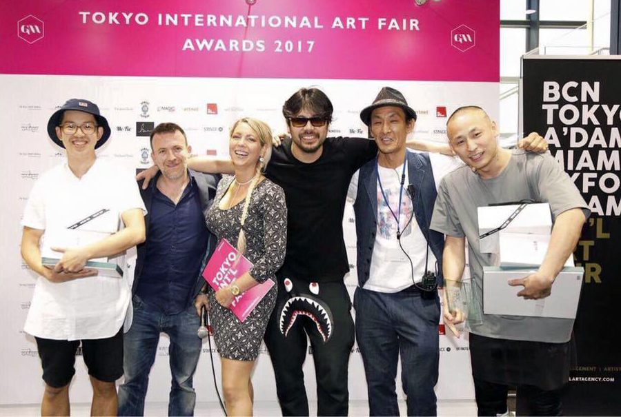 From left to right: LOC, Ms Dinnage, Ben Mori, Mr Maruhashi, Shinichi Tashiro.