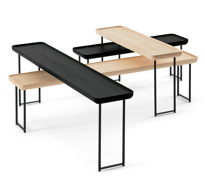 I love the  Torei  tables from the Haworth Collection for their light scale, linear form, and versatile shapes and sizes. I would love to have them in my own home.