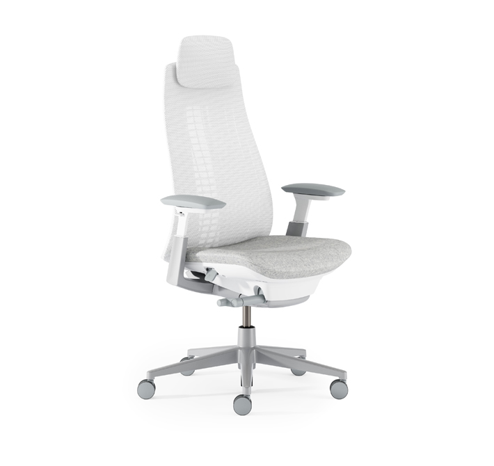 I have always had issues finding a task chair to fit my stature and comfort needs until I 'met'  Fern  by Haworth. The wave suspension system is a game changer for a previous back pain sufferer. It provides me with the exact support that I need. And let's not forget Fern is easy on the eyes!