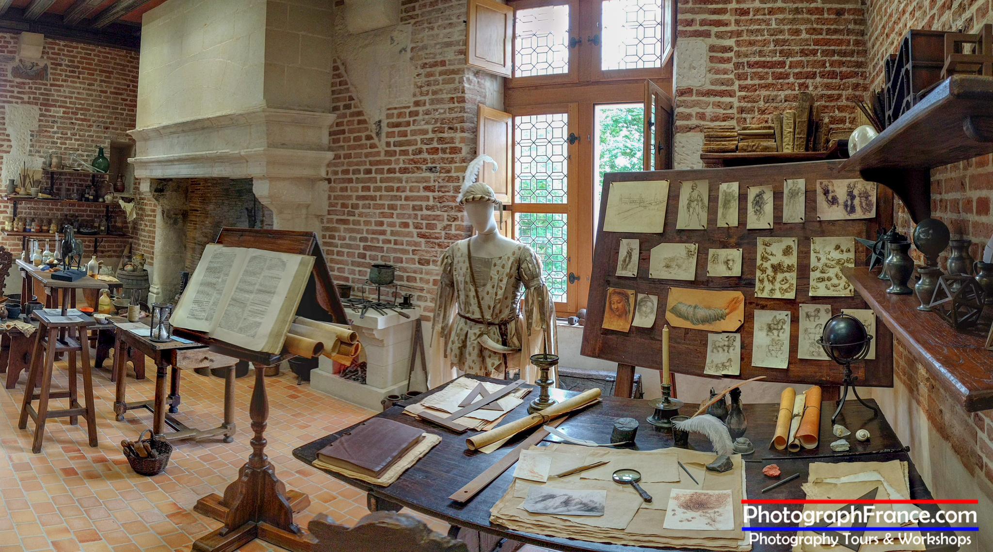 Leonardo's studio in Clos Lucé.