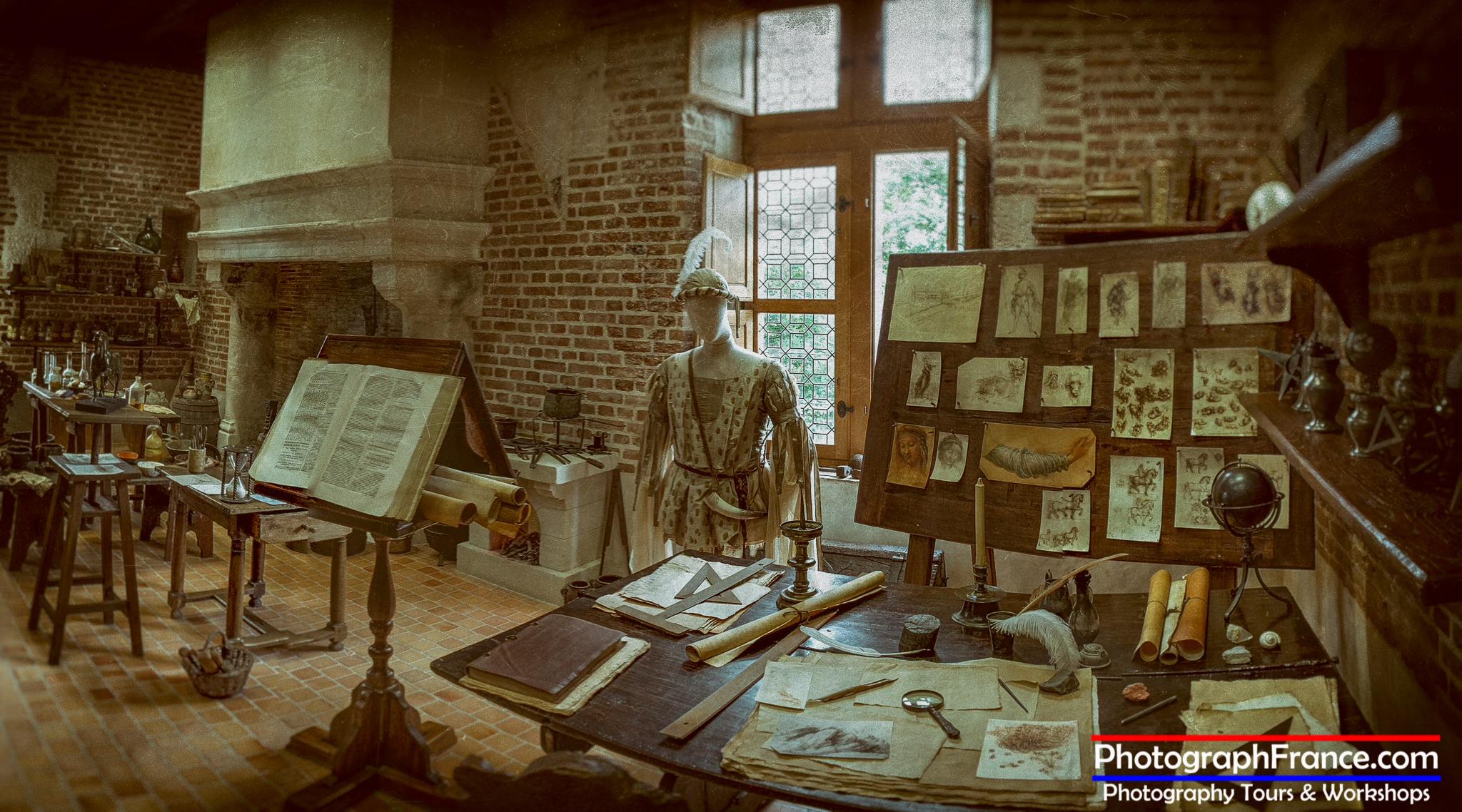 Leonardo's Studio, Château du Clos Lucé