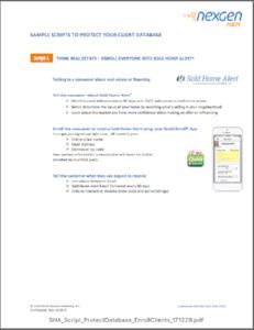 Sold Home Alert Script