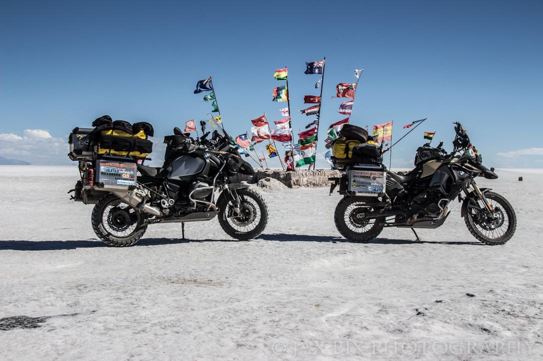 Both bikes at salar flags.jpg