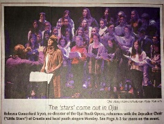 Little Stars coverage in the Ojai Valley News