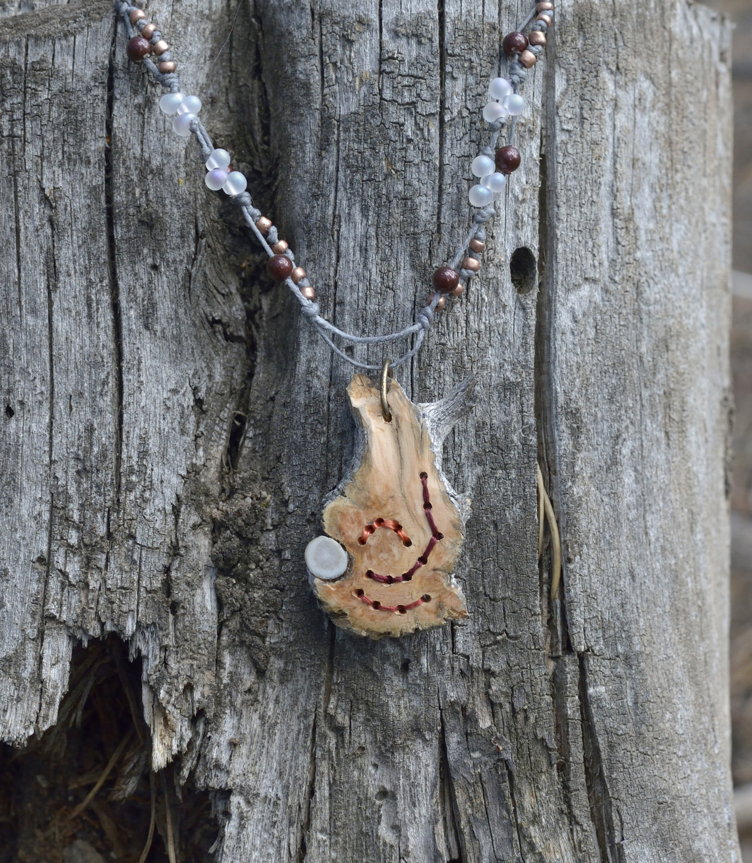 Bristlecone Burl with Antler Necklace