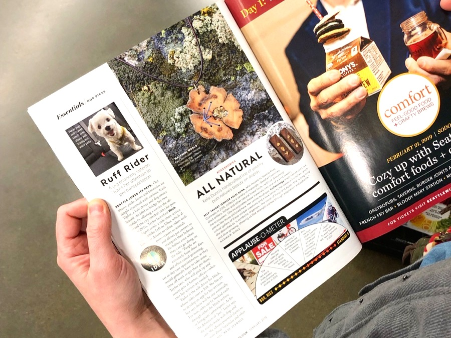 Feature in Seattle Magazine  Essentials section , February 2019 issue