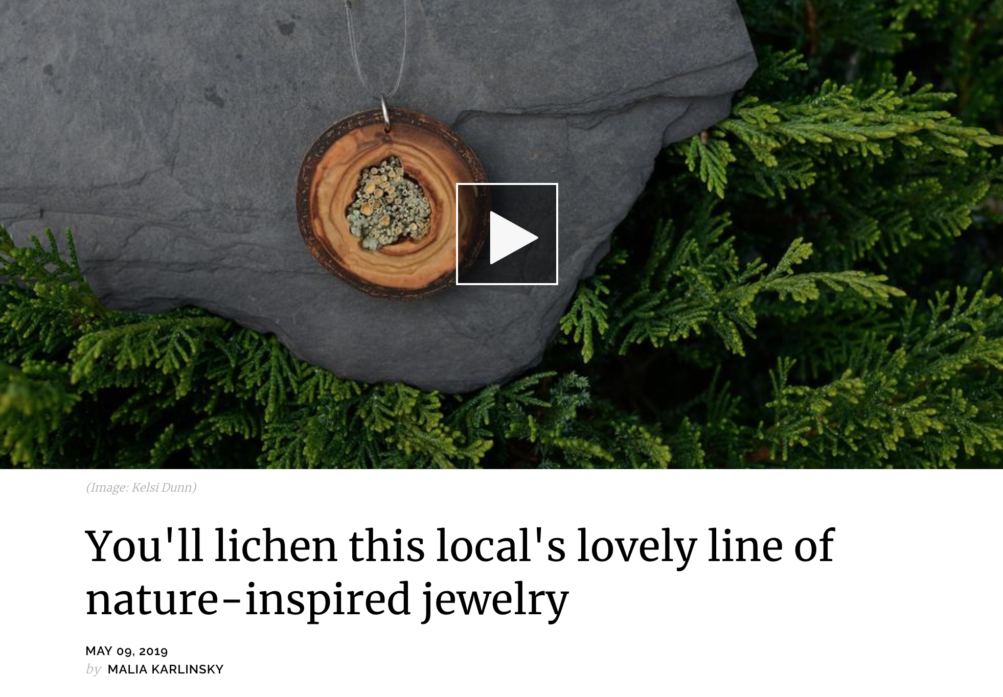 Seattle Refined Show Spotlight - May 2019. Seattle Refined Show Segment.You'll Lichen this Local's Lovely Line of Nature-Inspired Jewelry