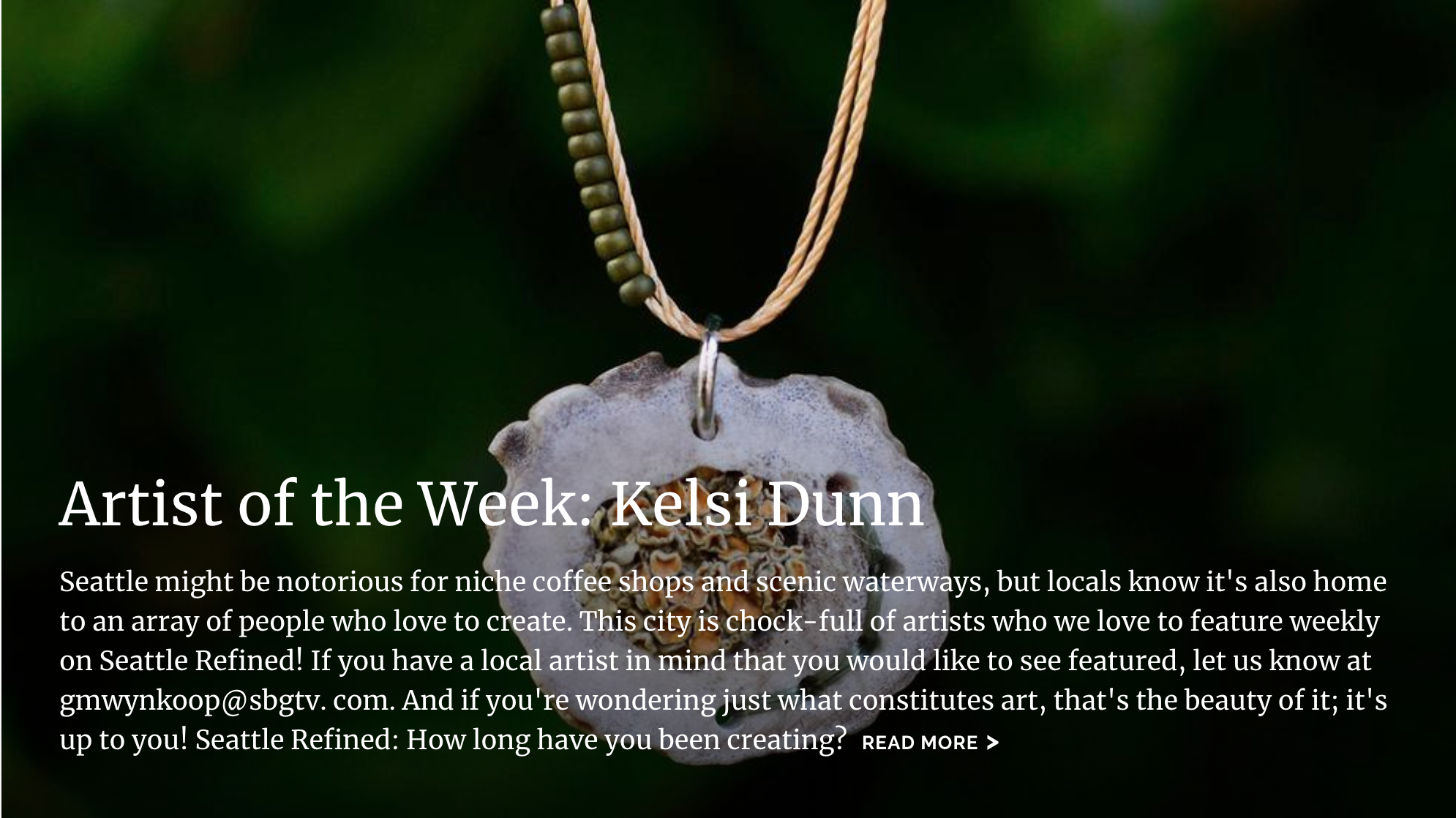 Seattle Refined Artist of the Week - May 2019. Online edition.Artist of the Week: Kelsi Dunn