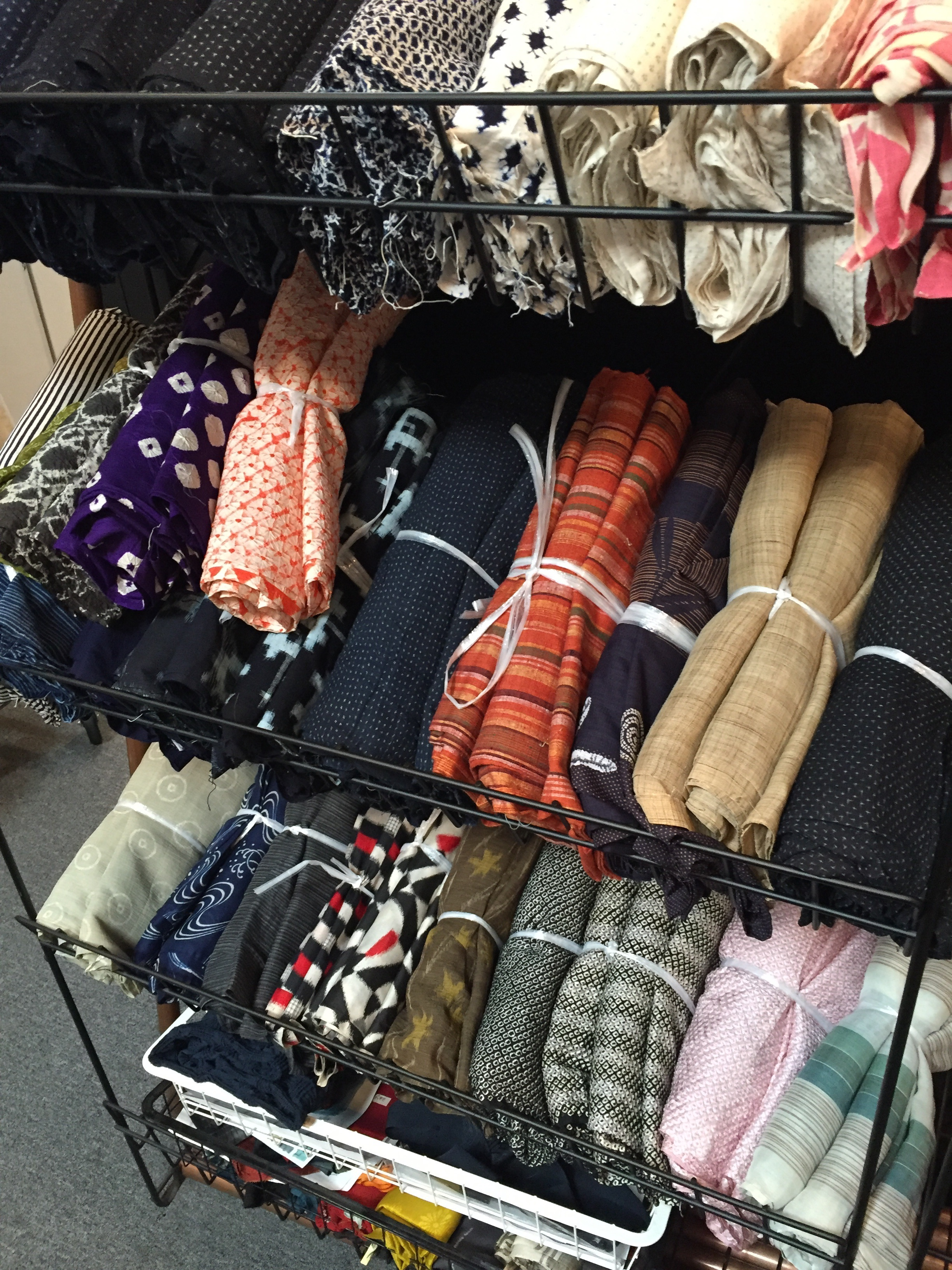 Spring vintage fabric possibilities awaiting inspection.
