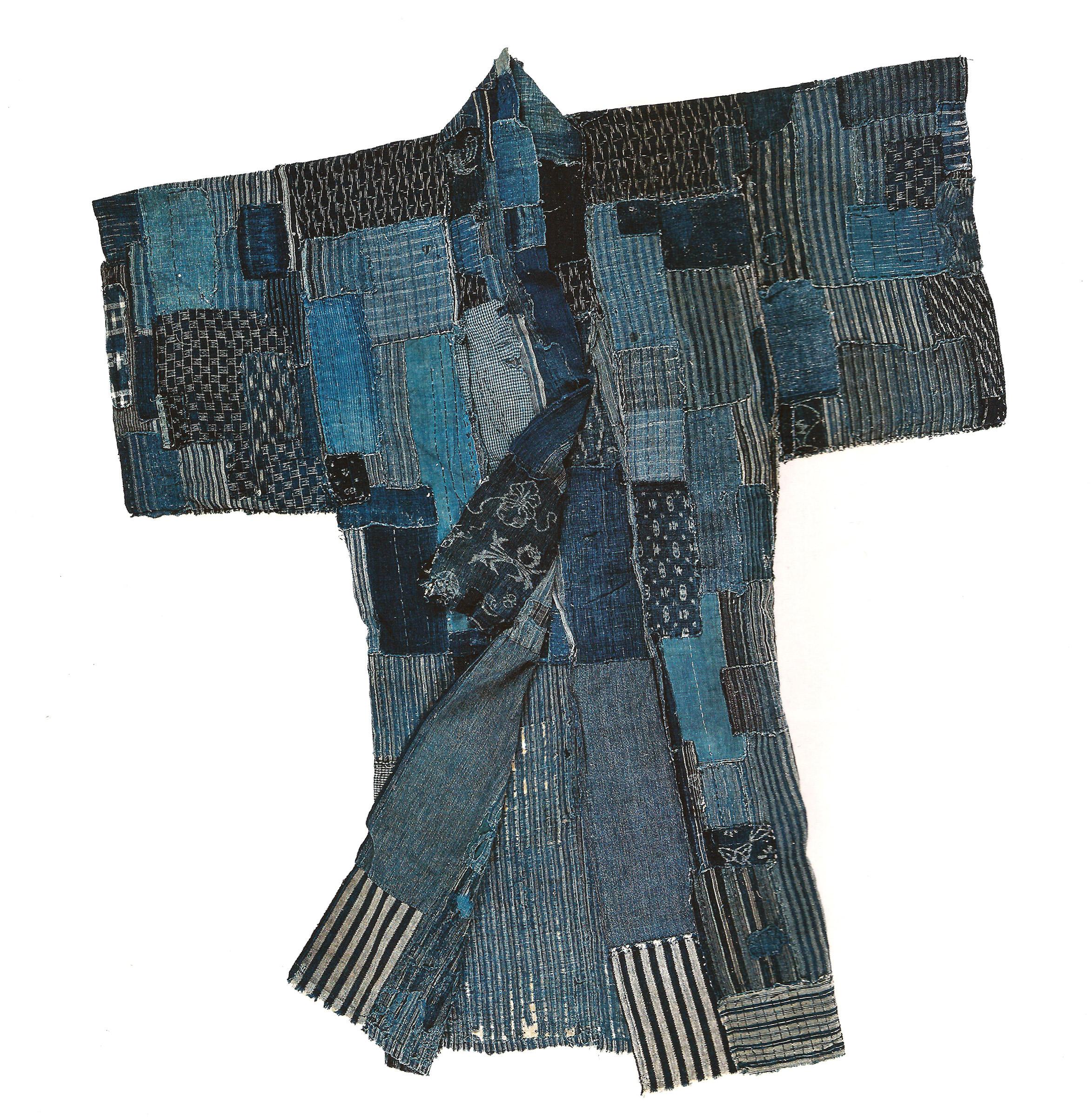 """Above: Antique """"boro"""" kimono from the Asiatica archive"""