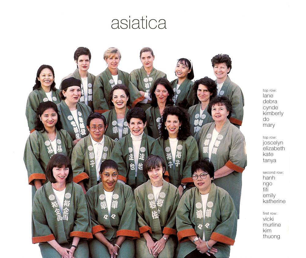 Above: Asiatica team, 1998