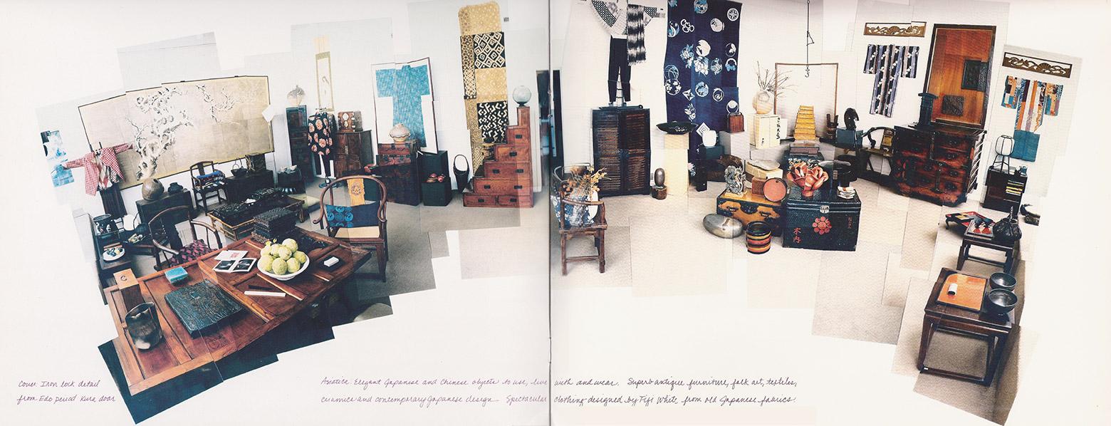 Above: Interior of Asiatica's original shop (Hockney-style / ph.Hollis Officer)