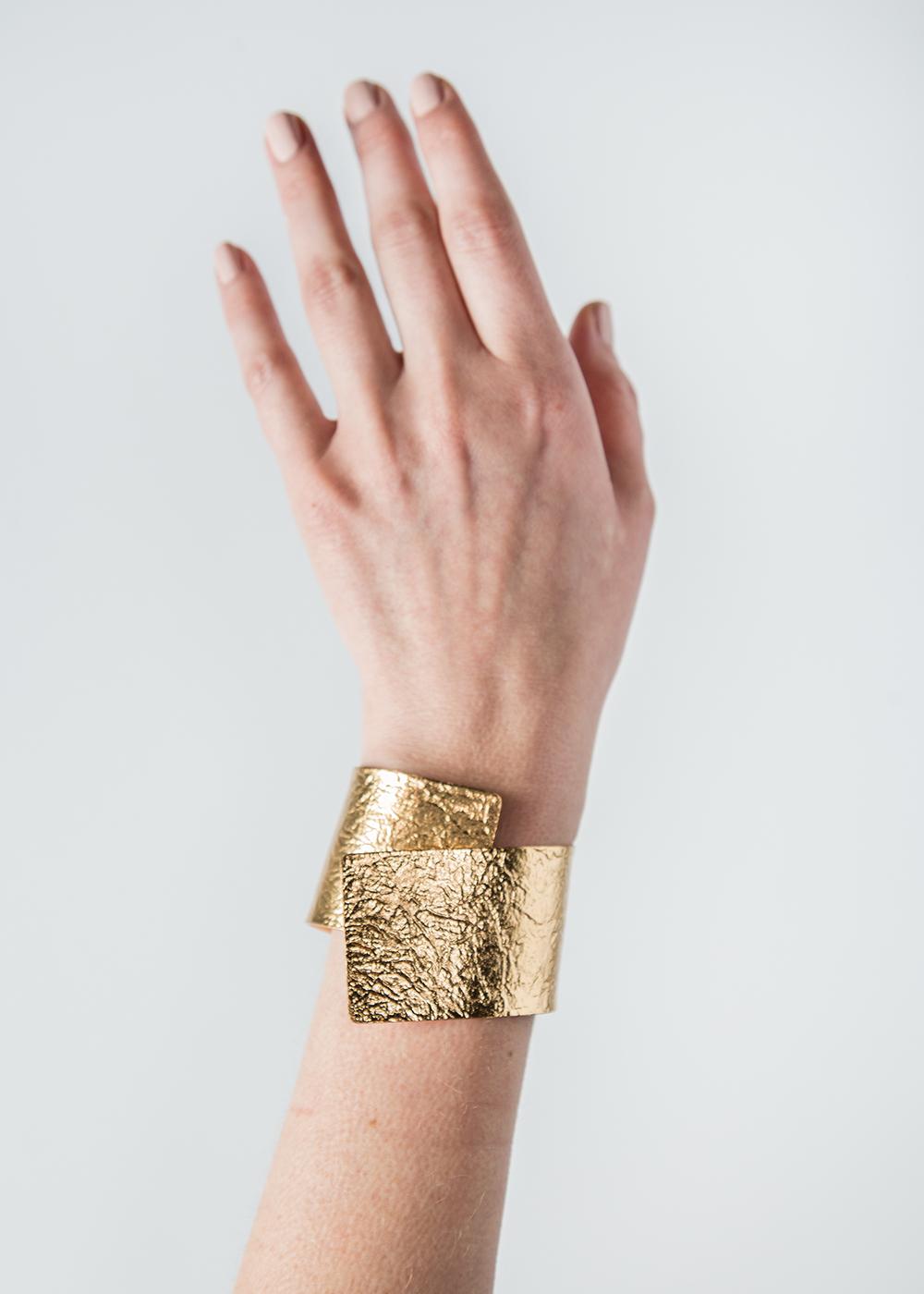 Tin Breath Bendable Bracelet in Gold  $225