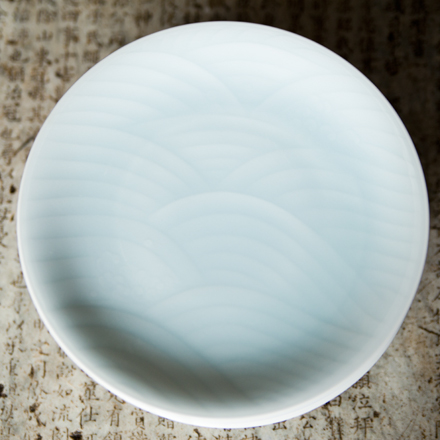 Wave Patterned Japanese Celadon Plates  $48 each