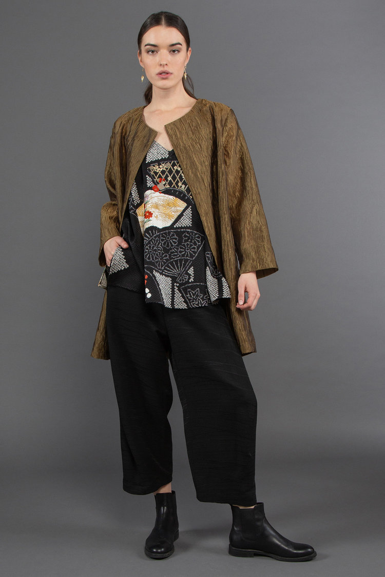 Spring Jacket with Camisole + Paris Pants in Vintage Japanese Textiles