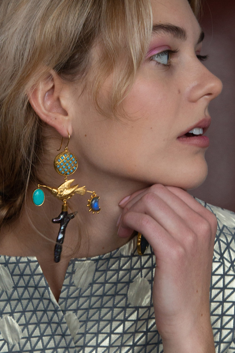 Grainne Morton Gilded Bird Single Earring  $565