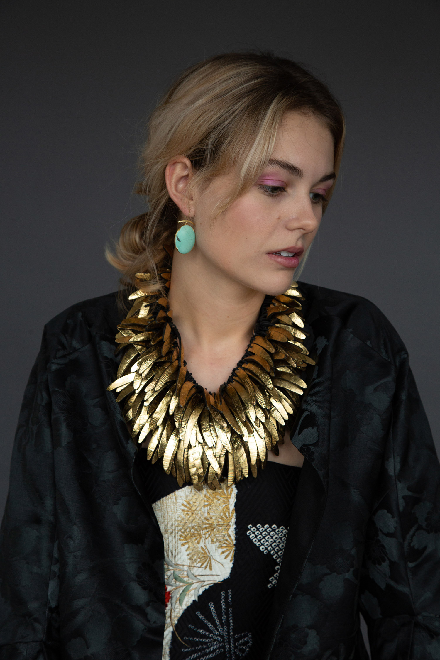 "Monies Gilt ""Feather"" Coco Shell Necklace  $1,350"