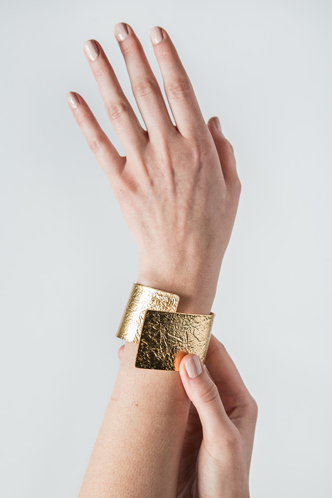 Tin Breath Bendable Bracelet in Gold  $225