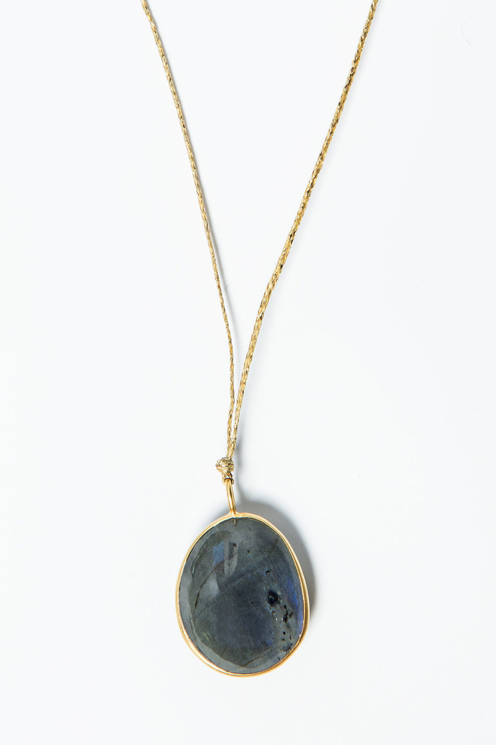 Pippa Small 18K Gold and Labradorite Pendant  $850