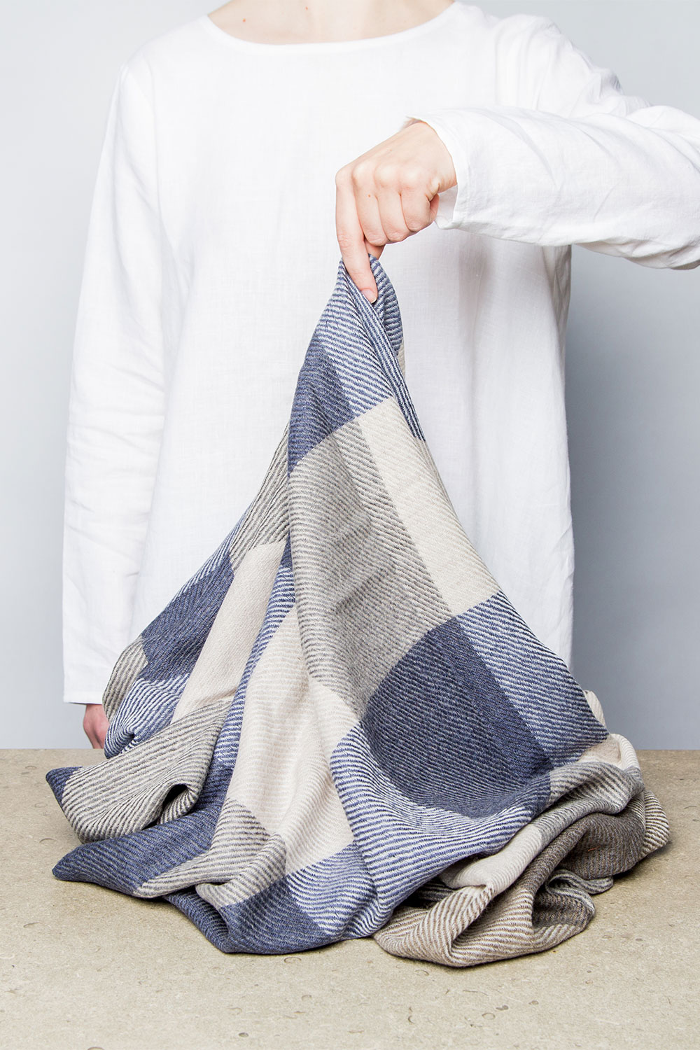 Epice Windowpane Checked Shawl  $295