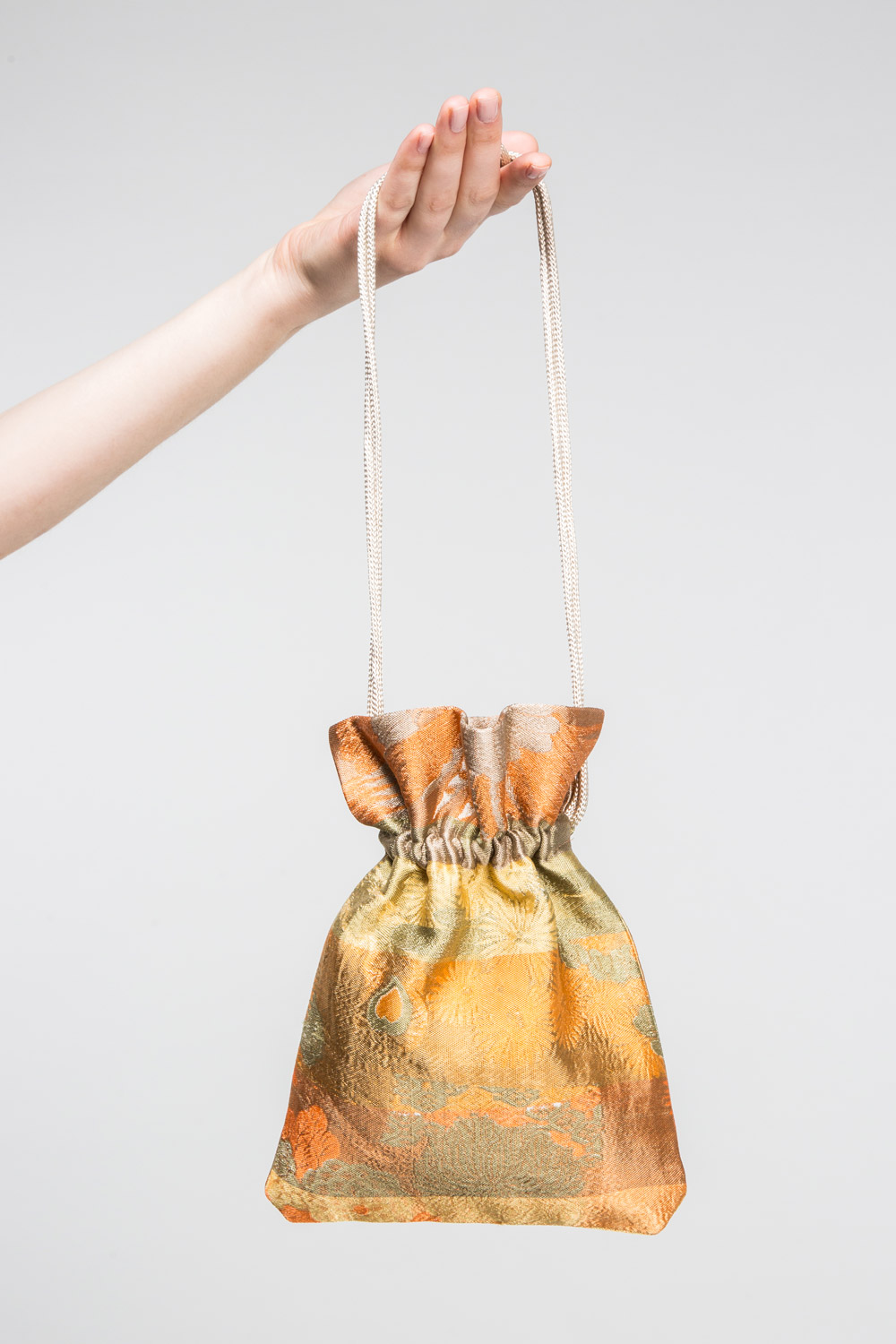 Drawstring Bag in Obi Brocade  $395