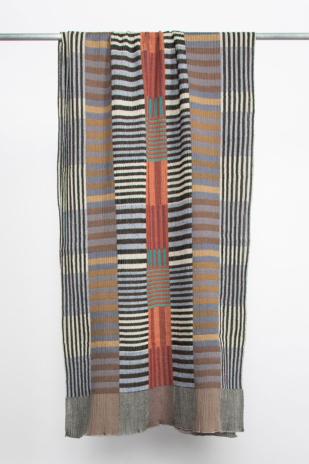 "Nuno Double-Faced Wool Shawl in ""Color Plates""  $275"