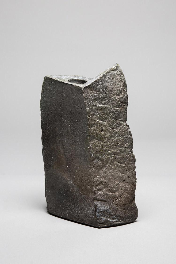 Tanimoto Ke Iga Stoneware Vase  $2,100