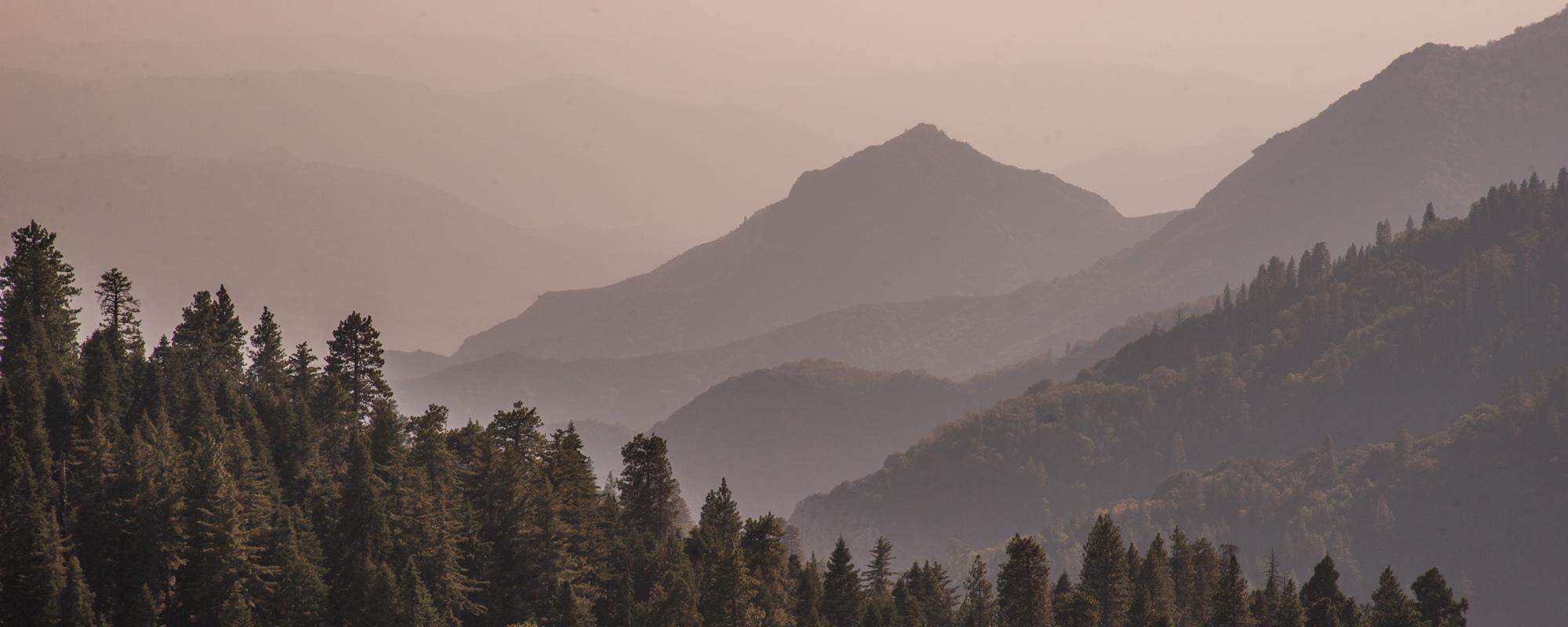 Mist over the Sierras