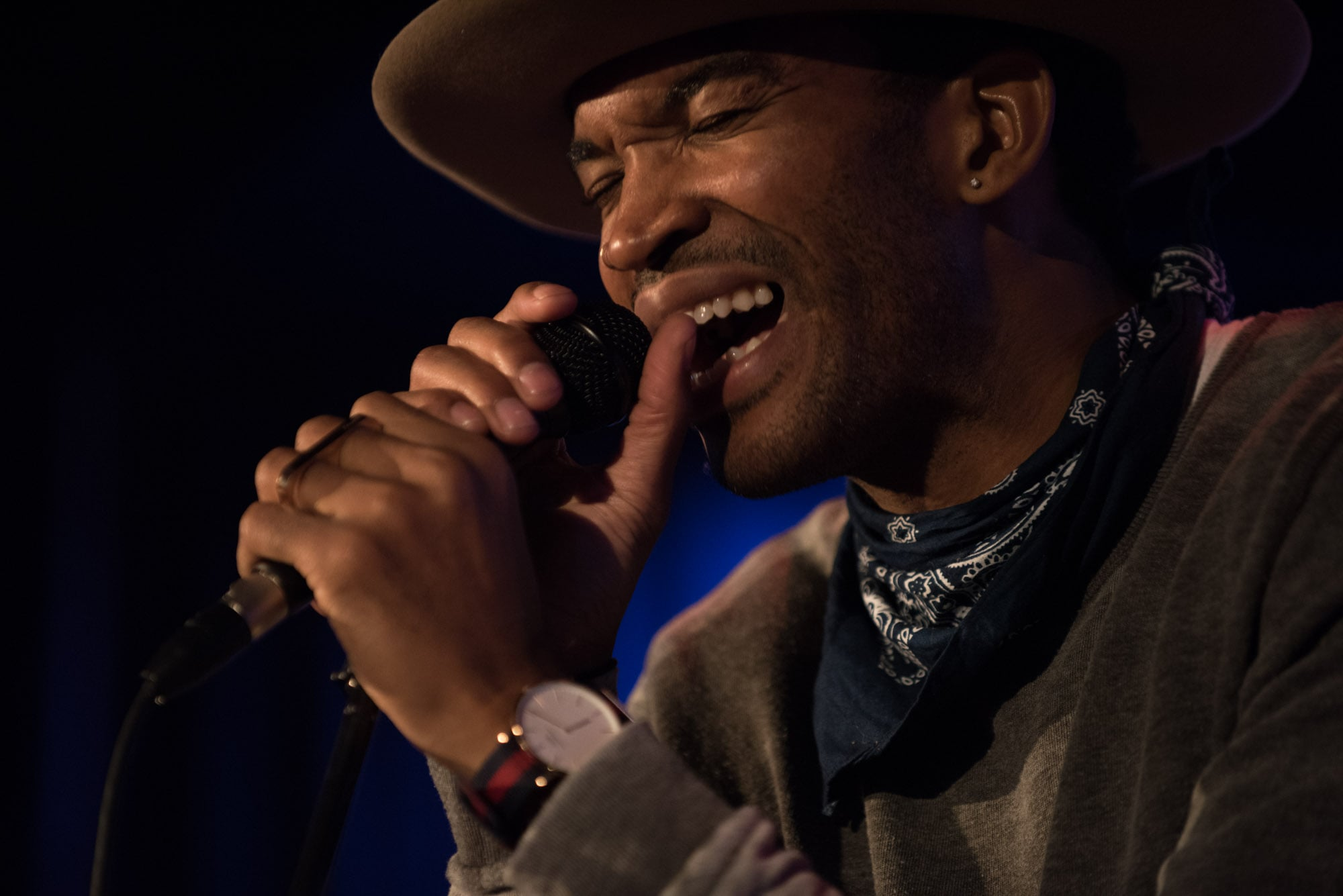 Emmett Skyy at his rollout show at The Grammy Museum at LA Live