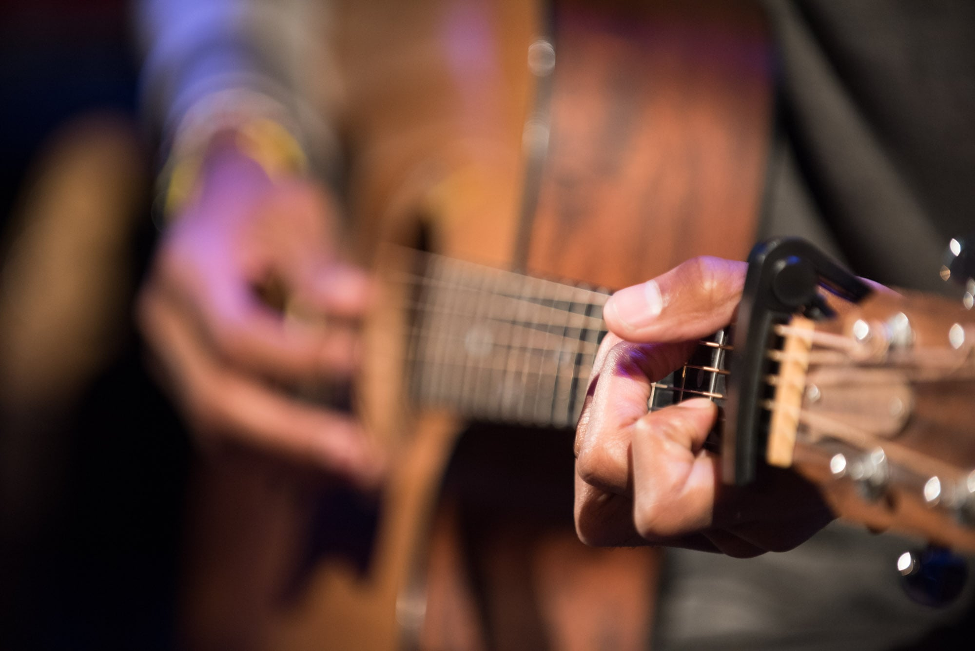 The incredible fingers of Emmett Skyy at his roll out concert live at the Grammy Museum at LA Live
