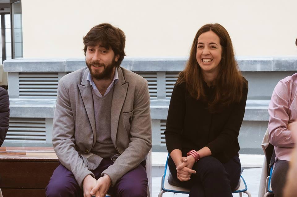 Andrés Hernando y Esther Gatón durante el desayuno.