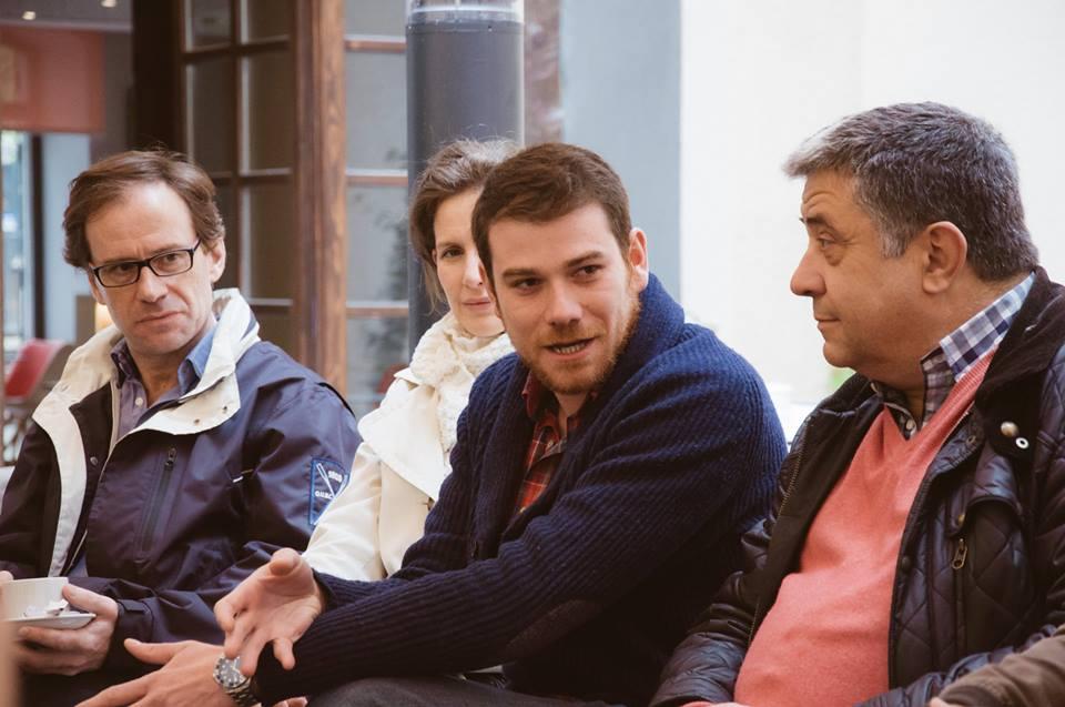 Alfonso León, Leticia Martínez, Javier Rivero y Elesio Gatón durante el Desayuno.