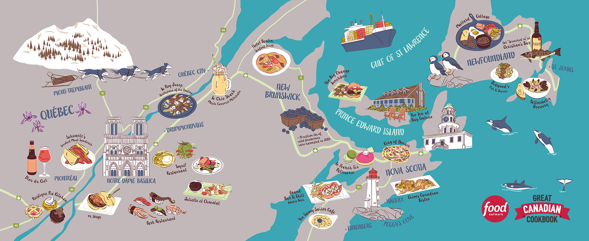 Great Canadian Cookbook - Quebec & The Maritimes