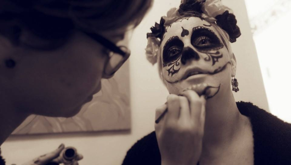 Love doing sugar skulls!!!  Model: Amanda Call