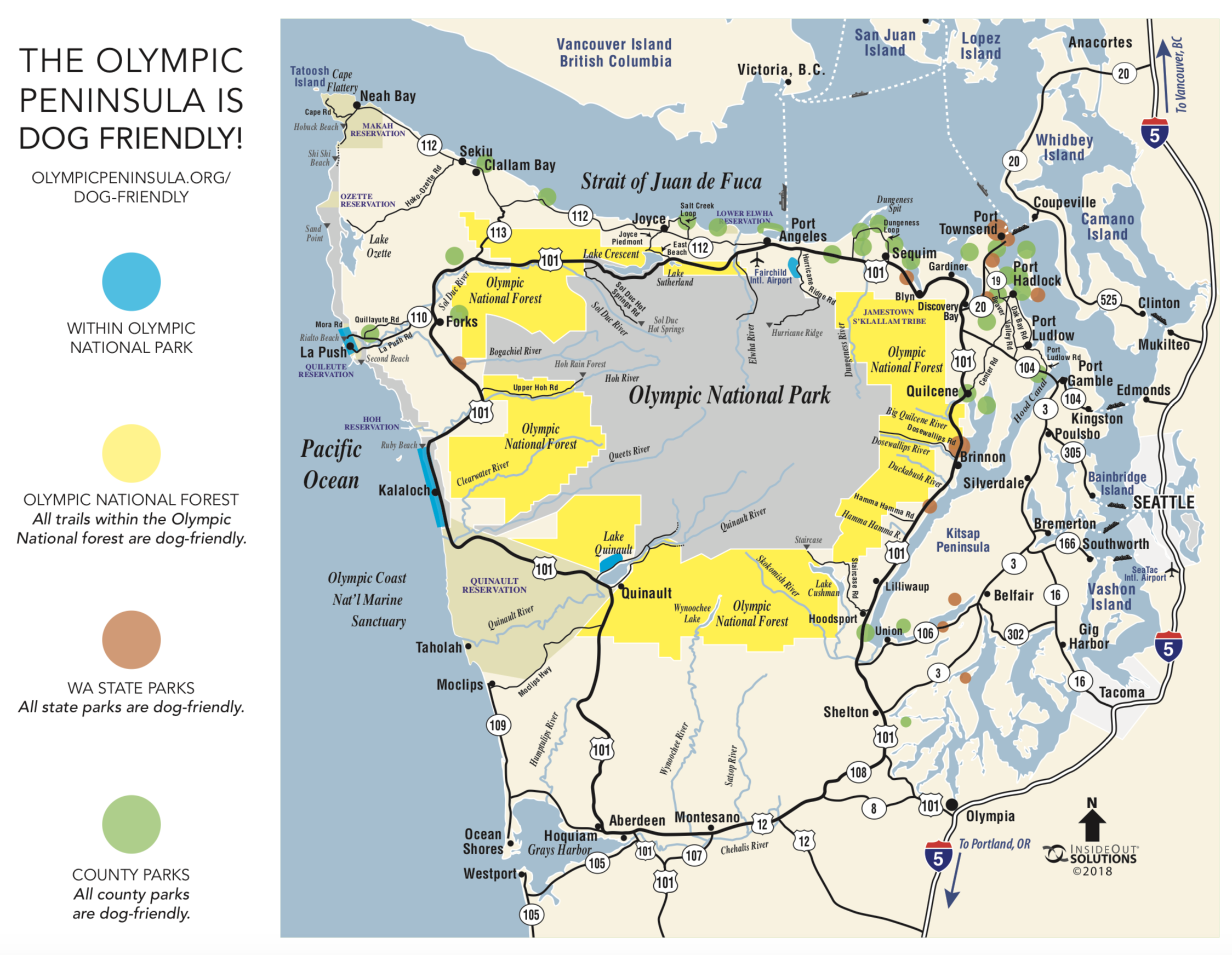 Check out this fantastic pet friendly map provided by our partners at  Olympicpeninsula.org !   Download  and pack a copy along with your leash and collapsible water dish!
